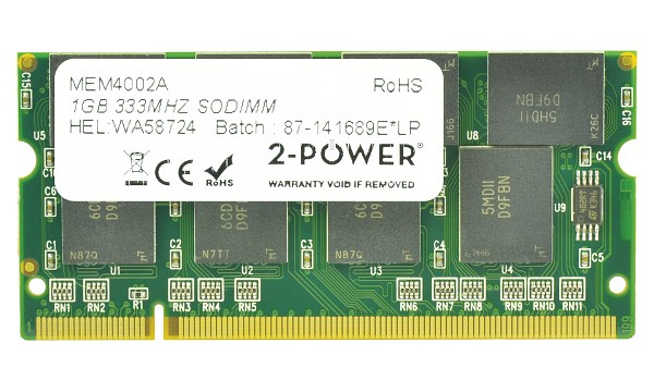 Satellite A50-110 1GB PC2700 333MHz SODIMM